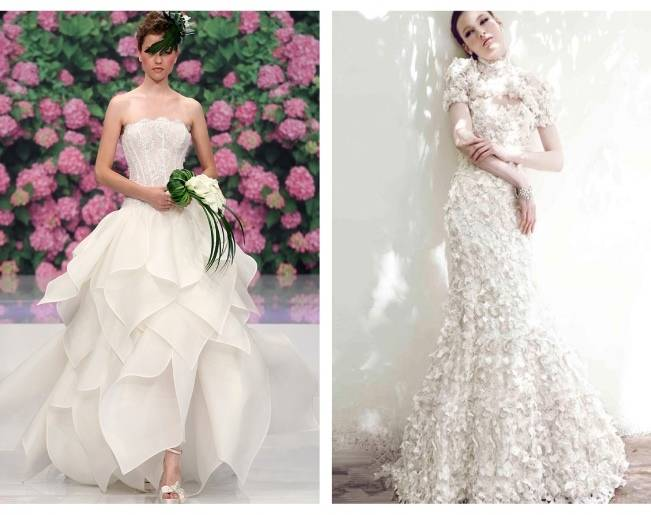 flower inspired wedding dresses