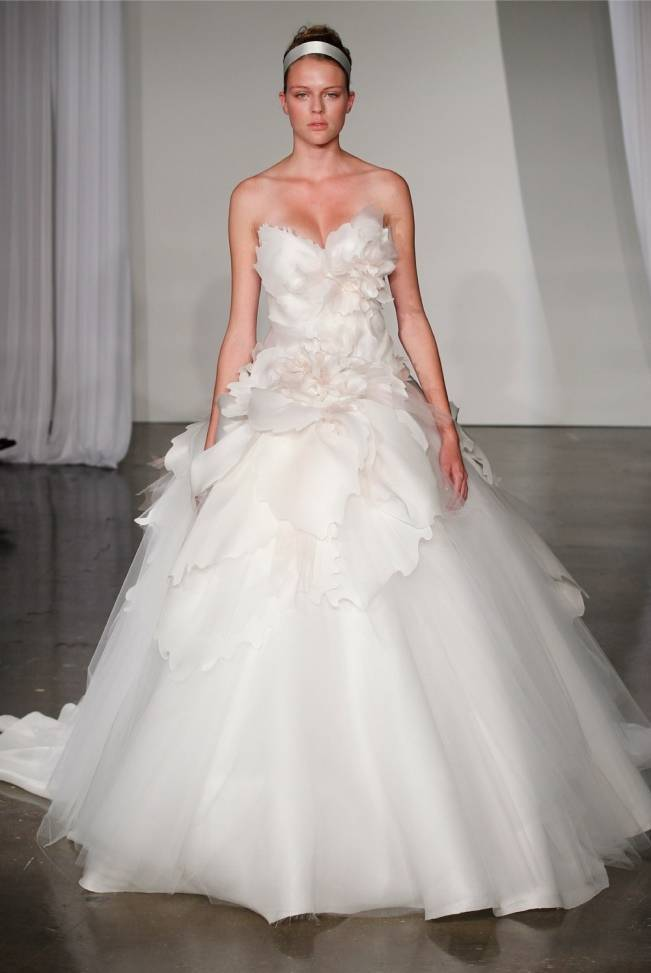 Marchesa 2013 floral wedding gown