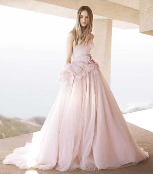 vera wang blush gown floral