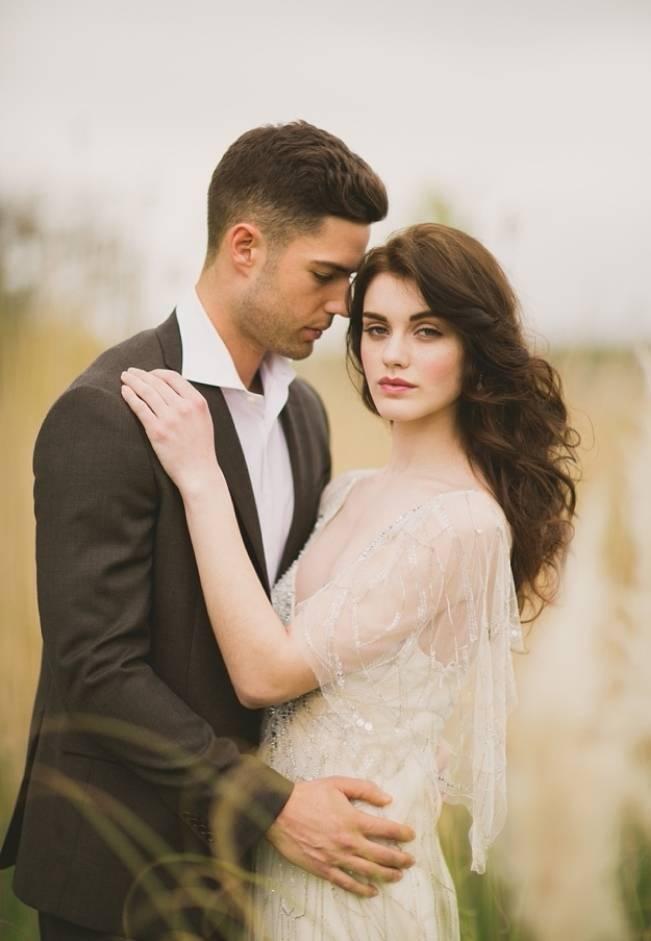 sheer shoulder wedding dress