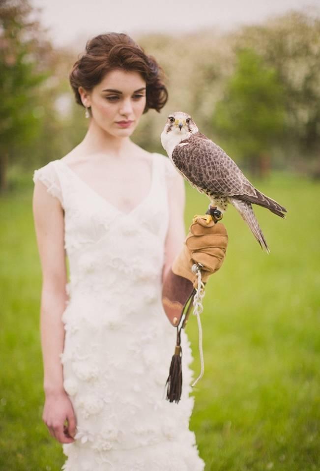 bride holding bird