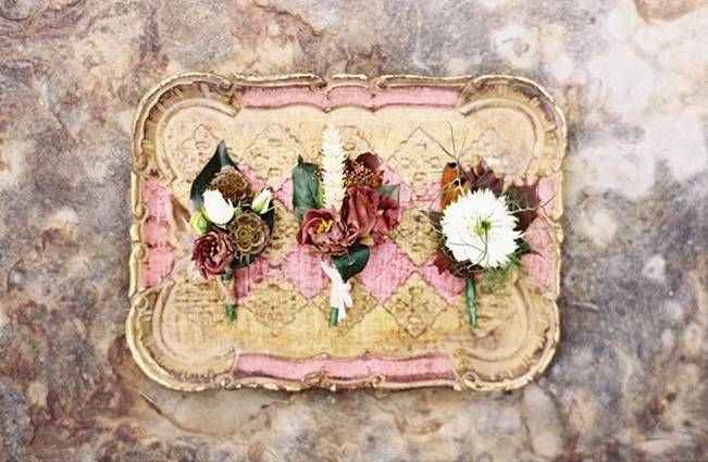 rustic autumn boutonnieres
