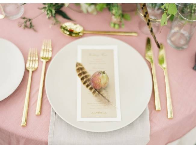 autumn feather wedding