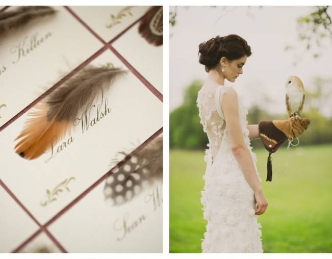 feather placecards