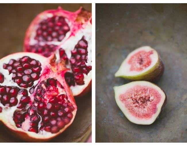 fig and pomegranate wedding