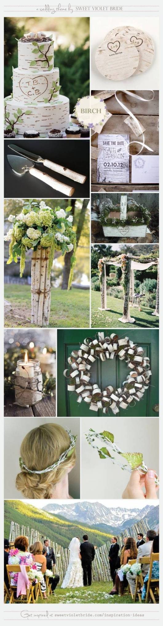 Wedding Inspiration Board #16: Birch