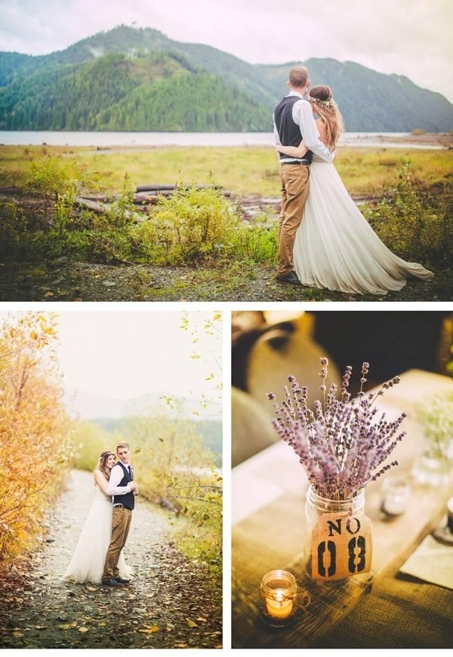 rustic fall mountain wedding