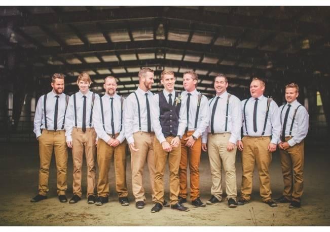 blue and khaki groomsmen