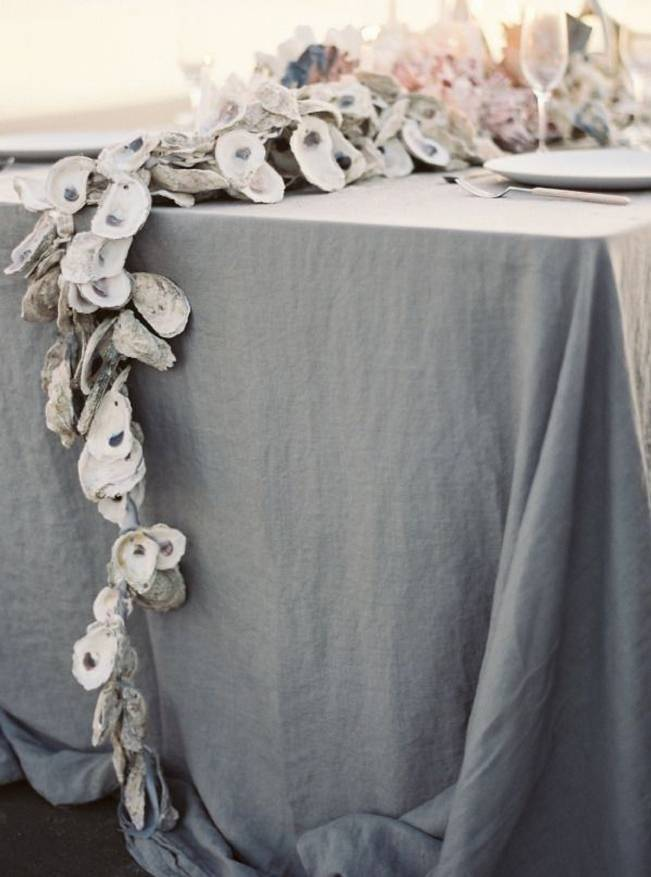 oyster shell table garland