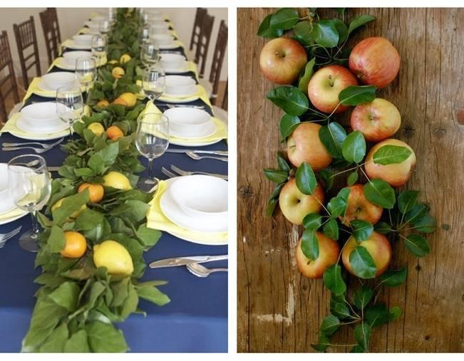 fruit table garlands