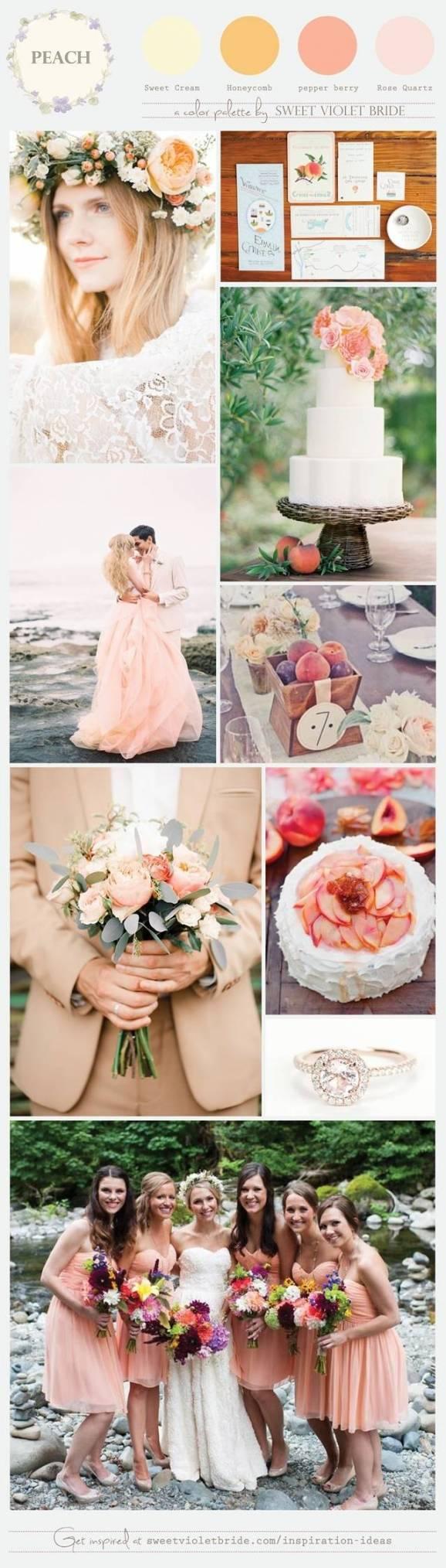soft peach wedding scheme
