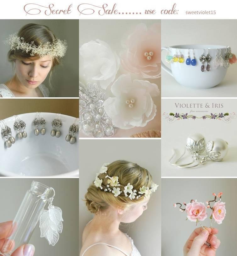 Secret Sale: 15% off Violette & Iris bridal accessories + jewelry
