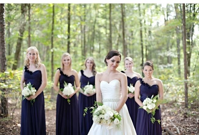 dark purple violet bridesmaid dresses