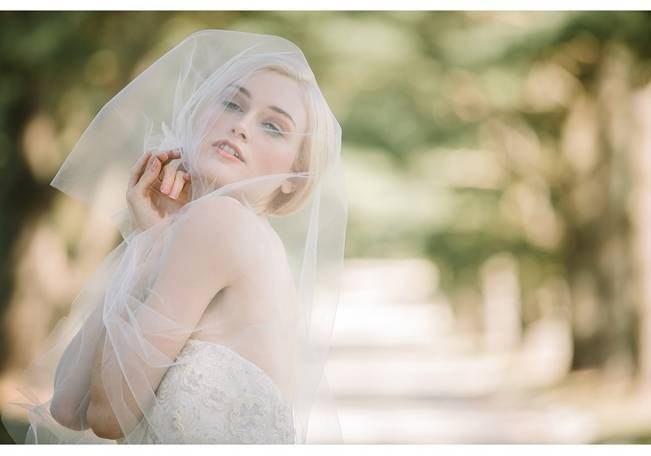 barely there bridal veil