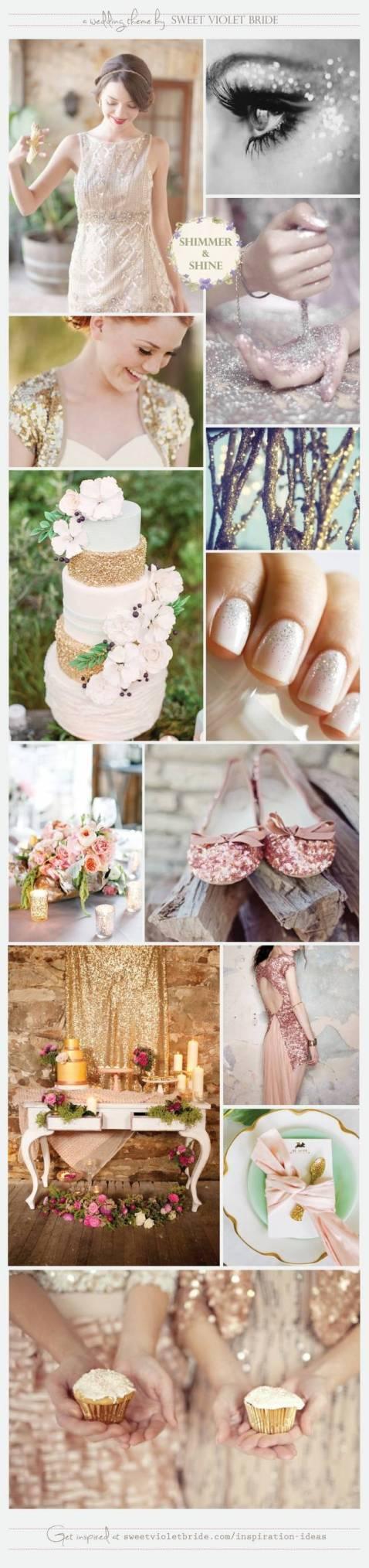 Wedding Inspiration Board #17: Shimmer & Shine