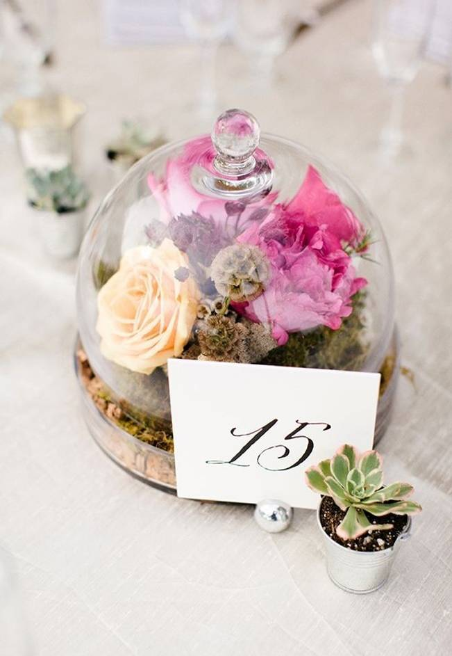pink rose fairy tale woodland terrarium centerpiece