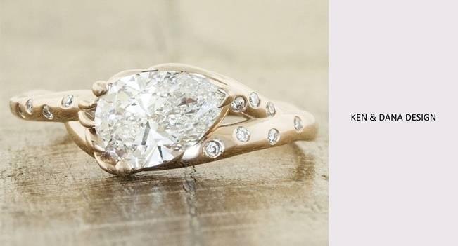 Ken and Dana Design pear cut diamond