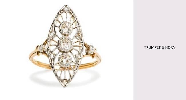 vintage Edwardian ring from Trumpet & Horn