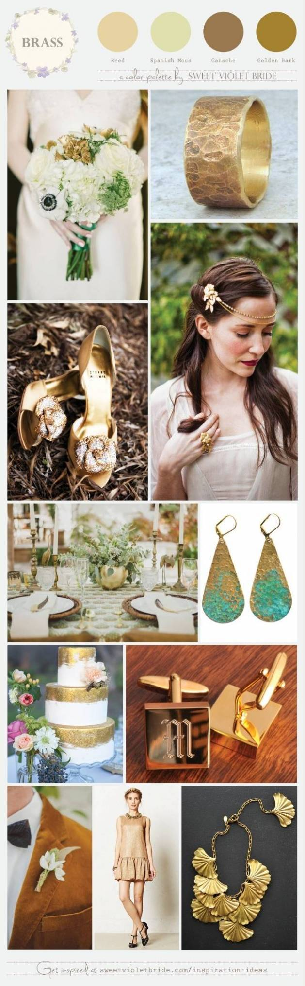 Wedding Color Palette: Brass