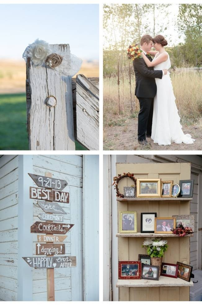 country chic wedding details