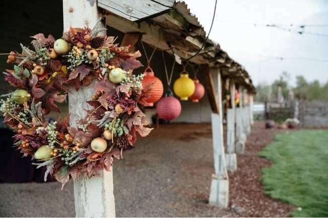 autumn paper lanterns for weddings