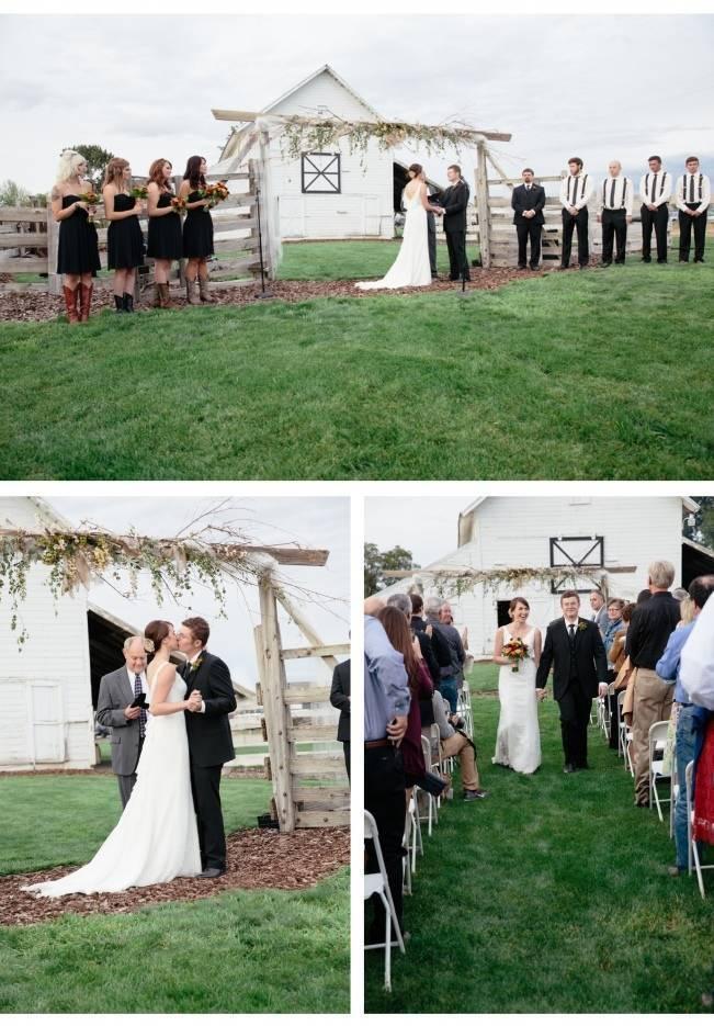 barn wedding arch