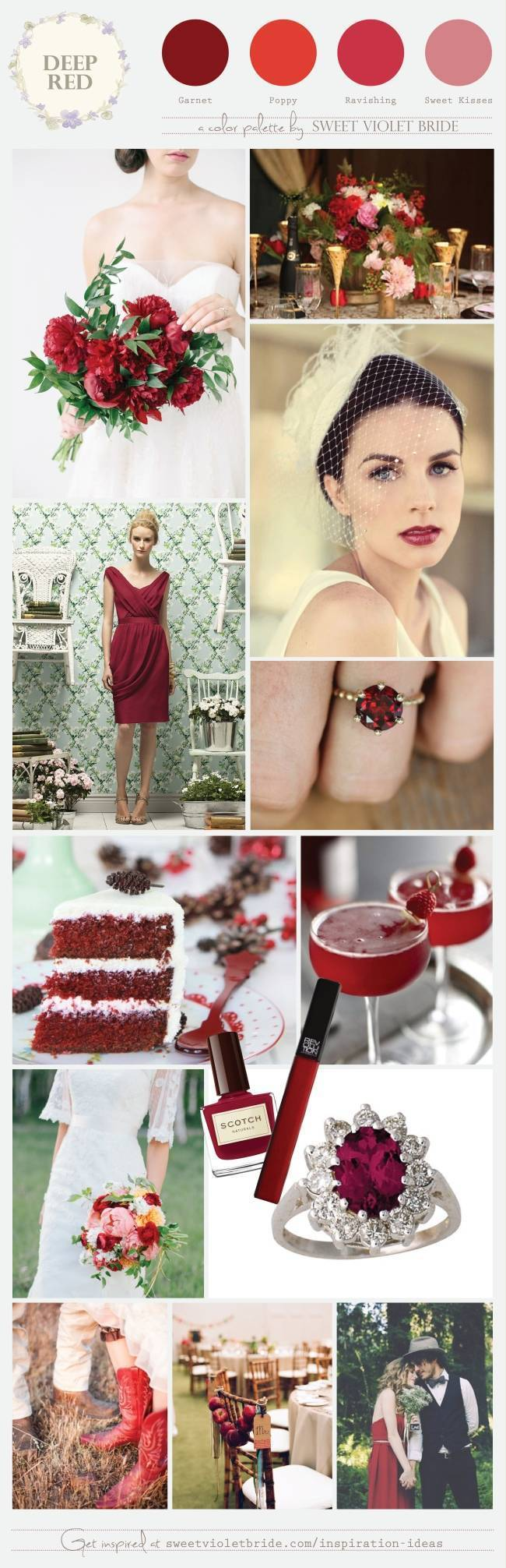 Wedding Color Palette: Deep Red