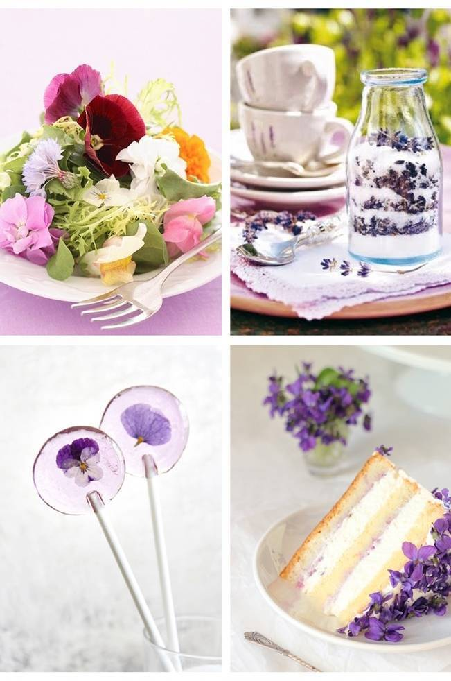 desserts with edible flowers