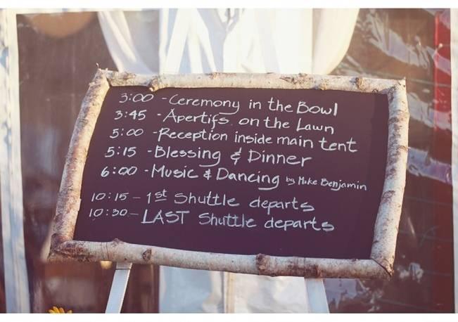 birch wedding chalkboard sign