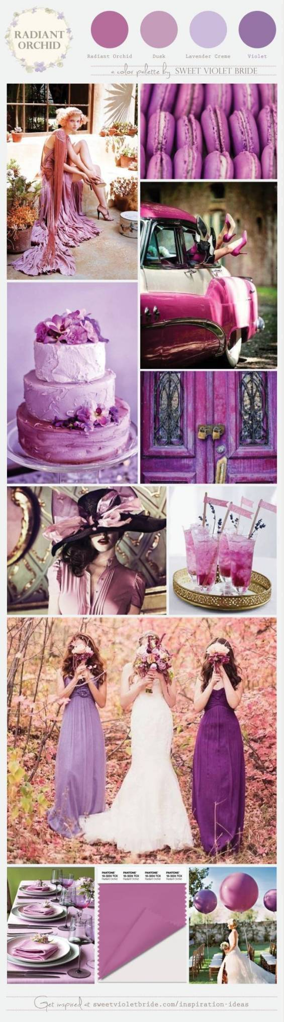 Wedding Color Palette: Radiant Orchid