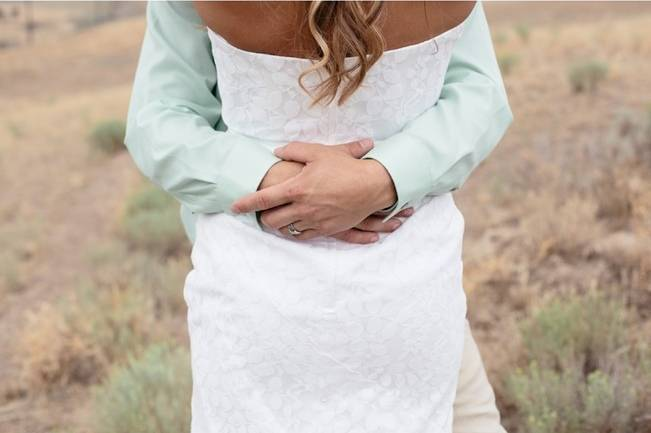 mint green groom