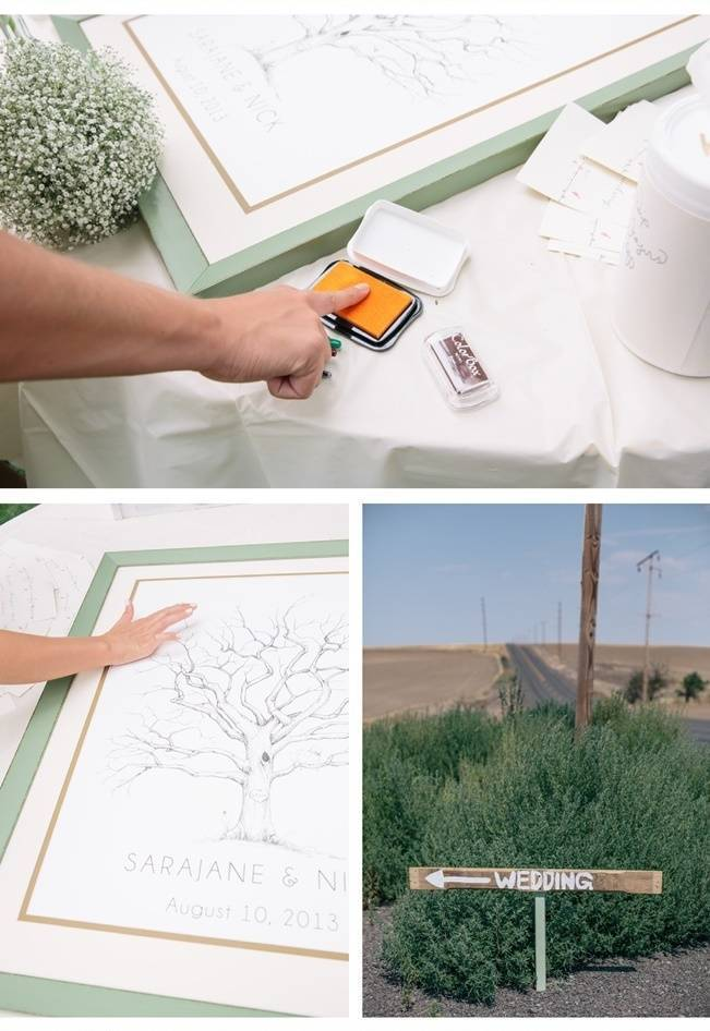 thumb print tree guest book