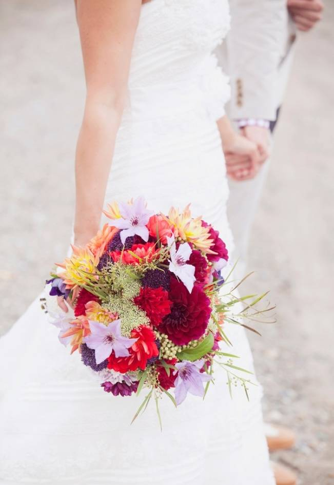 red purple yellow bouquet