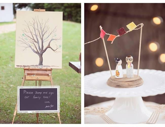 thumbprint tree poster guest book