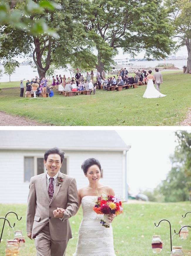 rustic island wedding Massachusetts