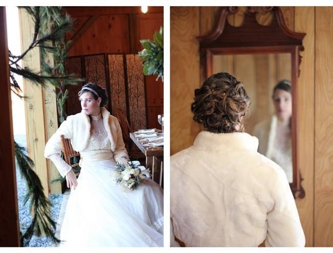 Rustic Vintage Winter Wedding Style {dKin Photography}