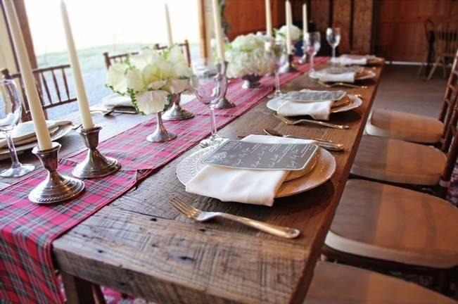 rustic farm wood wedding table