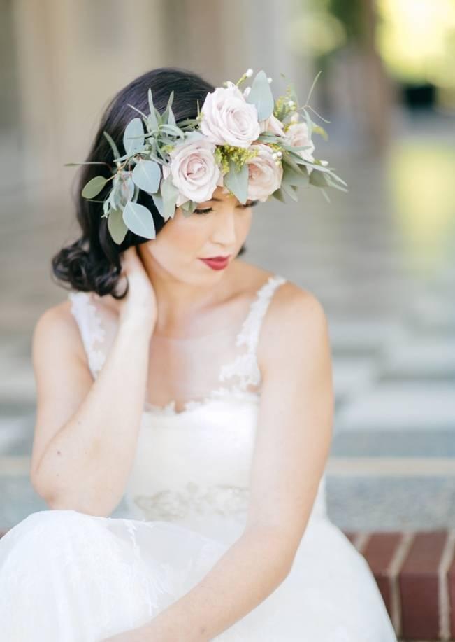 Vintage + Frida Kahlo Inspired Bridal Style {Anne Marie Photography}