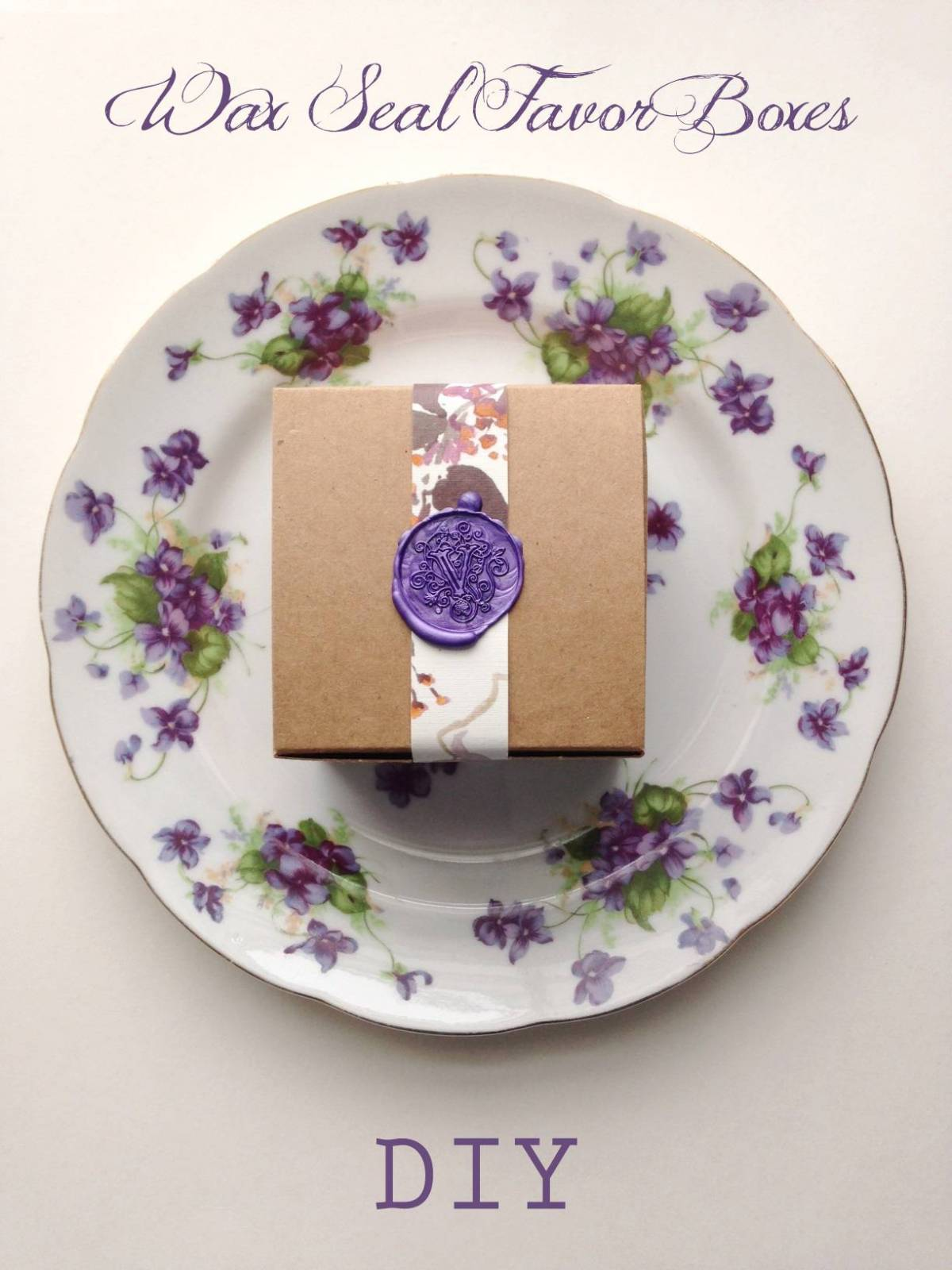 DIY Tutorial: Pretty Wax Seal Favor Boxes