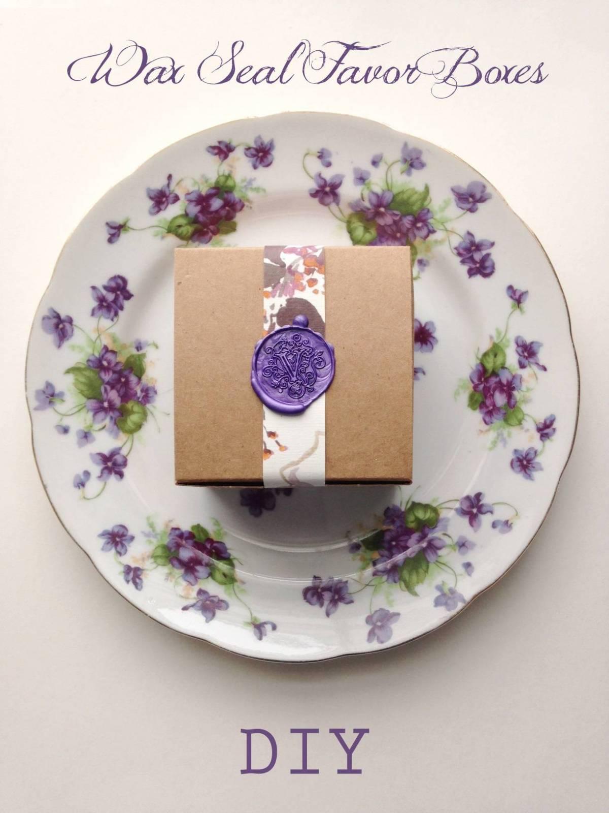 DIY Tutorial: Pretty Wax Seal Favor Boxes