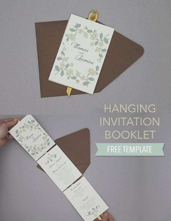 DIY: Floral Hanging Invitation Booklet