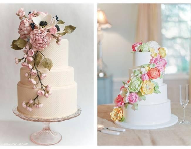 13 Inspiring Sugar Flower Wedding Cakes 10