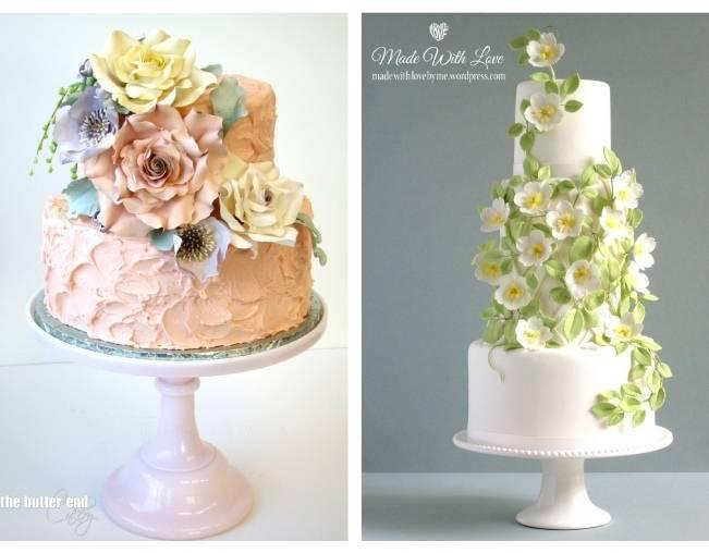 13 Inspiring Sugar Flower Wedding Cakes 8
