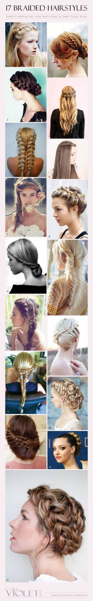 17 Braided Hairstyles for Your Wedding Day