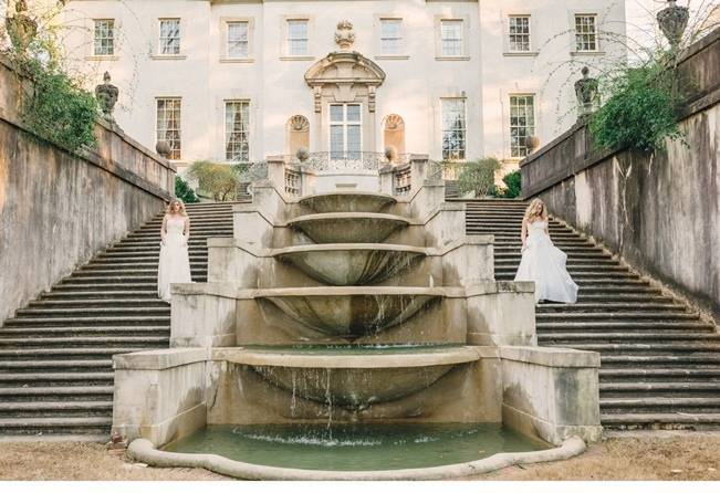 Wedding Inspiration at the Swan House {Rustic White Photography}