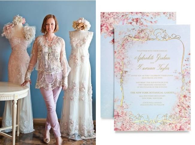 Claire Pettibone Unveils Exclusive Wedding Stationery Collection