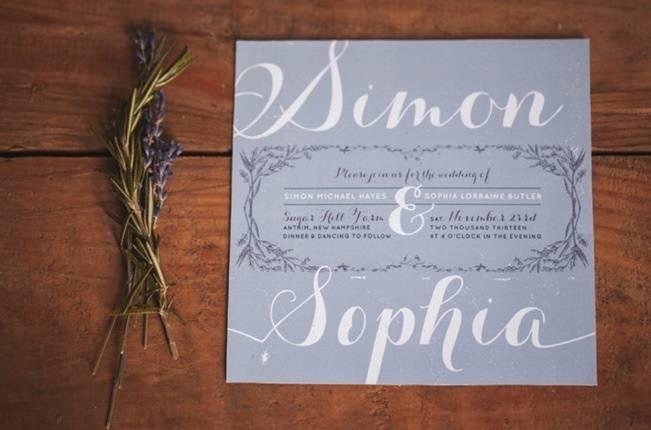 Lavender + Rosemary Winter Wedding Inspiration {Blue Jar Events + Jennifer Bakos Photography} 1