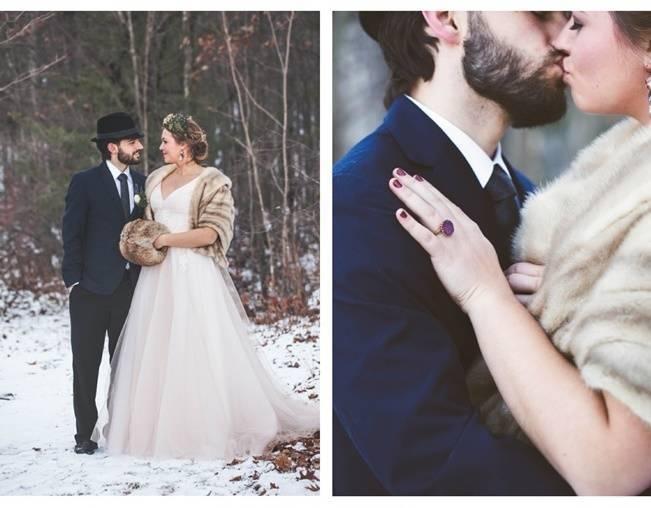 Lavender + Rosemary Winter Wedding Inspiration {Blue Jar Events + Jennifer Bakos Photography} 8