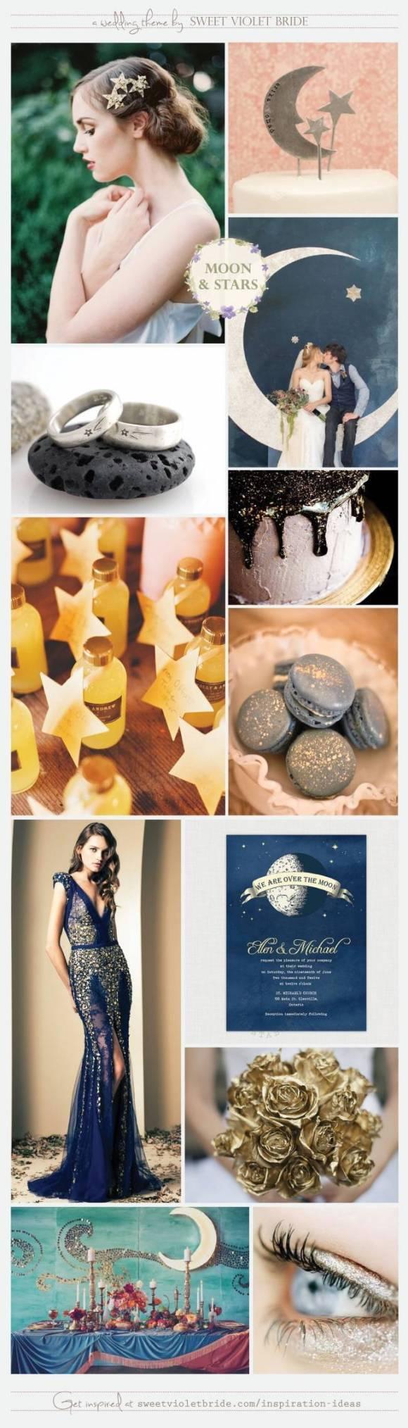 Wedding Inspiration Board 19 Moon & Stars, by Sweet Violet Bride