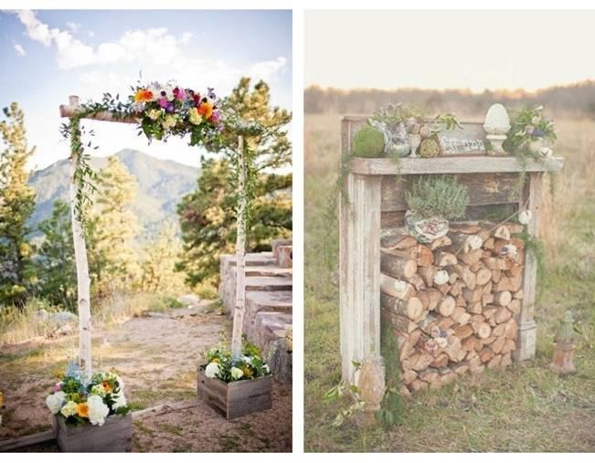 16 Rustic Ceremony Backdrop Ideas 4
